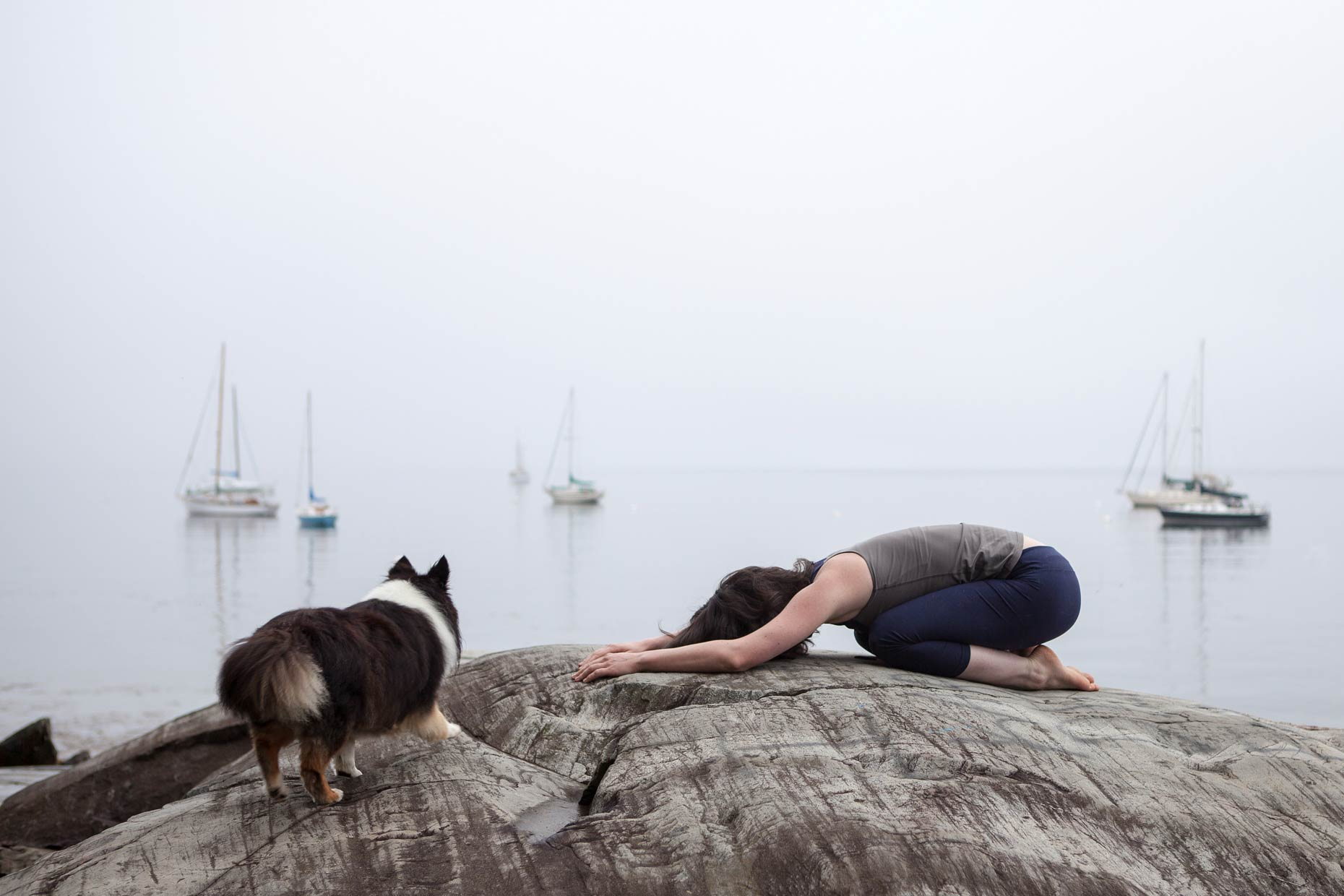 Dog Yoga | Lifestyle + Documentary Dog Photographer | Hannele Lahti | Maine